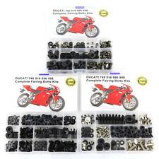 For Ducati 748 916 996 998 Complete Fairing Bolts Fasteners Kit Bodywork Screws
