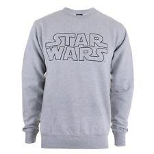 Logotipo de Star Wars para hombre de cuello redondo suéter Jumper en Gris-Liquidación