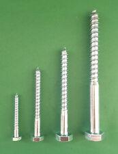 Sechskant-Holzschrauben Schlüsselschrauben DIN 571 galv. verzinkt ø 6 - 12 mm