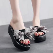 Women Chic BowTie Slipper l Fashion Platform Summer Sandals Casual Muffin Shoes