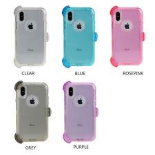 Apple iPhone X 10 Case Cover (Belt Clip fits Otterbox Defender) Clear Bumper
