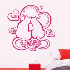 Sticker Décoration Amour Couple Chat Love Amoureux Coeurs, 20x21 cm à 30x31 cm