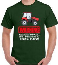 Avviso potrebbe spontaneamente comincia a parlare di trattori da Uomo Divertente T-Shirt agricoltore