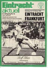 BL 82/83  Eintracht Braunschweig - Eintracht Frankfurt