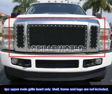 Fits 2008-2010 Ford F250/F350/F450 XLT Lariat King Ranch Model Black Rivet Grill