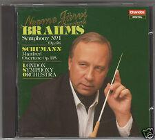 BRAHMS SINFONIA N 1 SCHUMANN MANFRED JARVI  CD