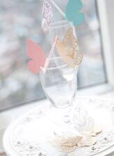 50x farfalle Segnaposto Segnabicchiere VARI COLORI PERLATO bomboniera matrimonio