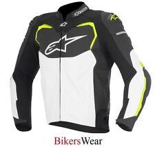 Alpinestars GP Pro Black/White/Fluo Leather Motorcycle Sports racing Jacket