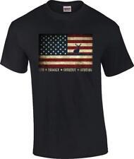 Us Flag Deer God Family County Hunting T-Shirt
