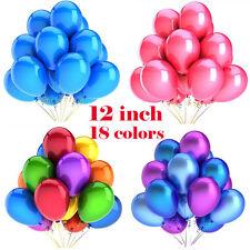 "12"" inch Latex HELIUM BALLOONS & RIBBONS Birthday Wedding Balloons Party WEDDING"