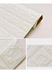3D Tile Brick Waterproof Wall Sticker Self-adhesive Foam Panel Wallpaper 77x70cm