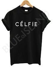 CELFIE T SHIRT BLACK  VOGUE TOP UNISEX WOMEN MEN SWAG DOPE HIPSTER ALONE