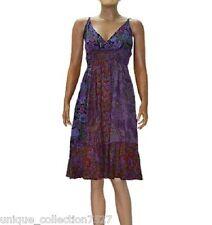 UC-22 Jaypuri Printed 100% Cotton Hippi Boho Summer Cool Funky Halter Dress