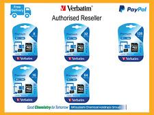 Verbatim Micro SD Mobile Phone Tablet Memory Card 128GB 64GB 32GB 16GB C10