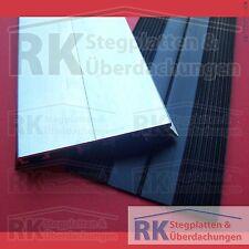 Alu-Universalprofil für alle Stegplatten / Glas, schw. Dichtung, 8,50 Euro