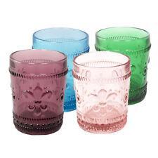 Set of 4 - Romantic Water Glass 10.oz Premium Glass Set For Refreshments, Soda