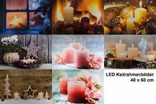 LED Kunstdruck auf Leinwand 40 x 60 cm,beleuchtetes Bild Keilrahmen Wandbild NEU