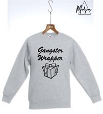 Christmas Sweatshirt Sweater Top Gangster Wrapper Alternative Jumper S M L XL