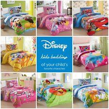 Disney Kids Bedding Quilt Duvet Cover Set Single Twin 3-Piece Cotton Bedding Set