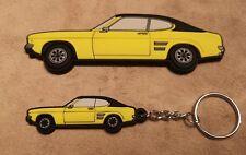 Ford Capri Mk1 ST Keyring / Tool Box Magnet  Yellow