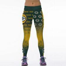 Green Bay Packers Leggings S/M-XXL (4-16) Pack Football Game Wear Fan