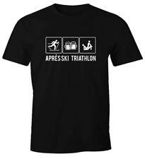 Herren T-Shirt Après Ski Triathlon Ski-Party Hüttengaudi lustig Fun-Shirt