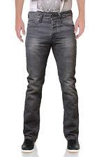 Emporio Seven New Men's Slim Fit Selvedge Jeans Tapered Storm Denim Pants Grey