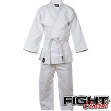 Blitz Kids White 100% Cotton Student Judo Suit GI + Free White Belt - FREE P&P