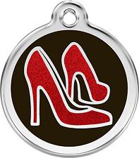 médaille acier gravée chien ou chat red dingo chaussures à paillettes 3 tailles