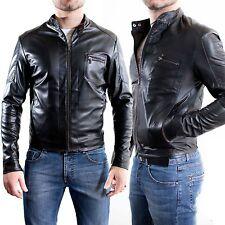 ★ In PELLE 100% o Di Pelle PU ★ Giubbotto Giacca Uomo Men Leather Jacket E3a-E3b