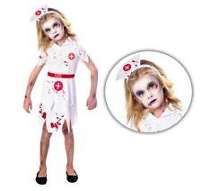 Niños Niñas Sangriento Zombie Enfermera Hospital Doctor Médico cirujano Disfraz De Halloween