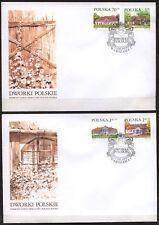 POLAND 1999 FDC SC#3463/67 Country Estates (V)