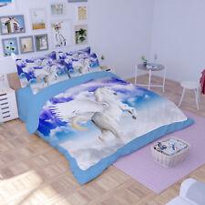 3D Sky Flying Horse 6 Bed Pillowcases Quilt Duvet Cover Set Single Queen King AU