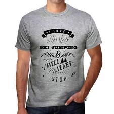 SKI JUMPING Extreme sport Tshirt, Homme Tshirt Gris, Cadeau Tshirt