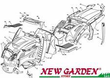 Esploso carrozzeria 102cm TN185HD trattorino rasaerba CASTELGARDEN2002-13ricambi