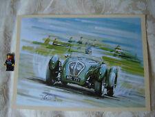 Healey Silverstone classic british sports car art print Riley engine 1949 1950