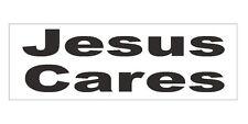 Jesus Cares Bumper Sticker or Helmet Sticker D681