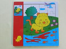 16 delige houten puzzel - dieren - Puzzle en bois 16pcs Animaux - Nouveau