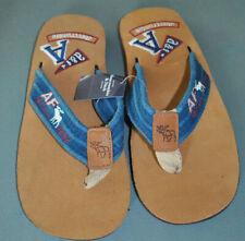 Abercrombie & Fitch Flip Flop Sandals - Blue Triple Ridge (AF-TRBlue2)