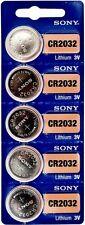5 Piles Bouton 3V SONY CR2032 au LITHIUM  ( DL2032 BR2032 KL2032 L2032 ECR2032 )