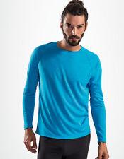Herren Langarmshirt Sport Shirt Rundhals Quick Dry Gr.S-XXL in 7 Farben L02071