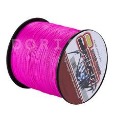 Dorisea 6lb ~ 300lb Extreme Pink Braided 100% PE Fishing Line 100m~2000m