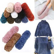 100g Velvet yarn Soft protein Cashmere silk wool Yarn crochet handmadeknitti NMU