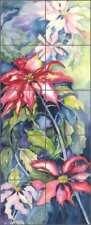Floral Tile Mural Neufeld Flower Art PNA030