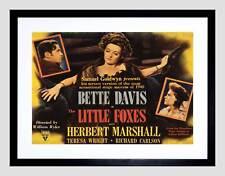 ADVERT MOVIE FILM LITTLE FOXES BETTE DAVIS BLACK FRAMED ART PRINT B12X6416
