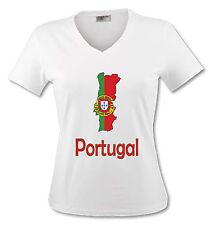 T-shirt Femme carte Portugal - drapeau portugais - du S au XL