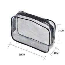 96c09c60e7d4 Waterproof Clear Women Cosmetic Toiletry PVC Zipper Makeup Wash Bag Pouch  Travel