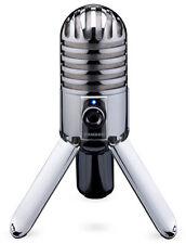 Samson Meteor Mic USB Studio Microphone For Computer Recording (SAMTR) Silver