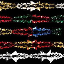 stagnola natalizia Soffitto Decorazione 6 pezzi 2.7m Ghirlanda - Colore a scelta