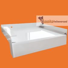 ALUMINIUM FENSTERBANK weiß 50 - 240 mm inkl. Alu Abschluss mit Putzkante